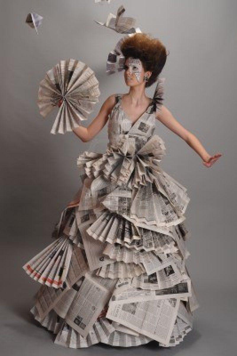 Recyclable Fashion: Newspaper Dress, Fashion