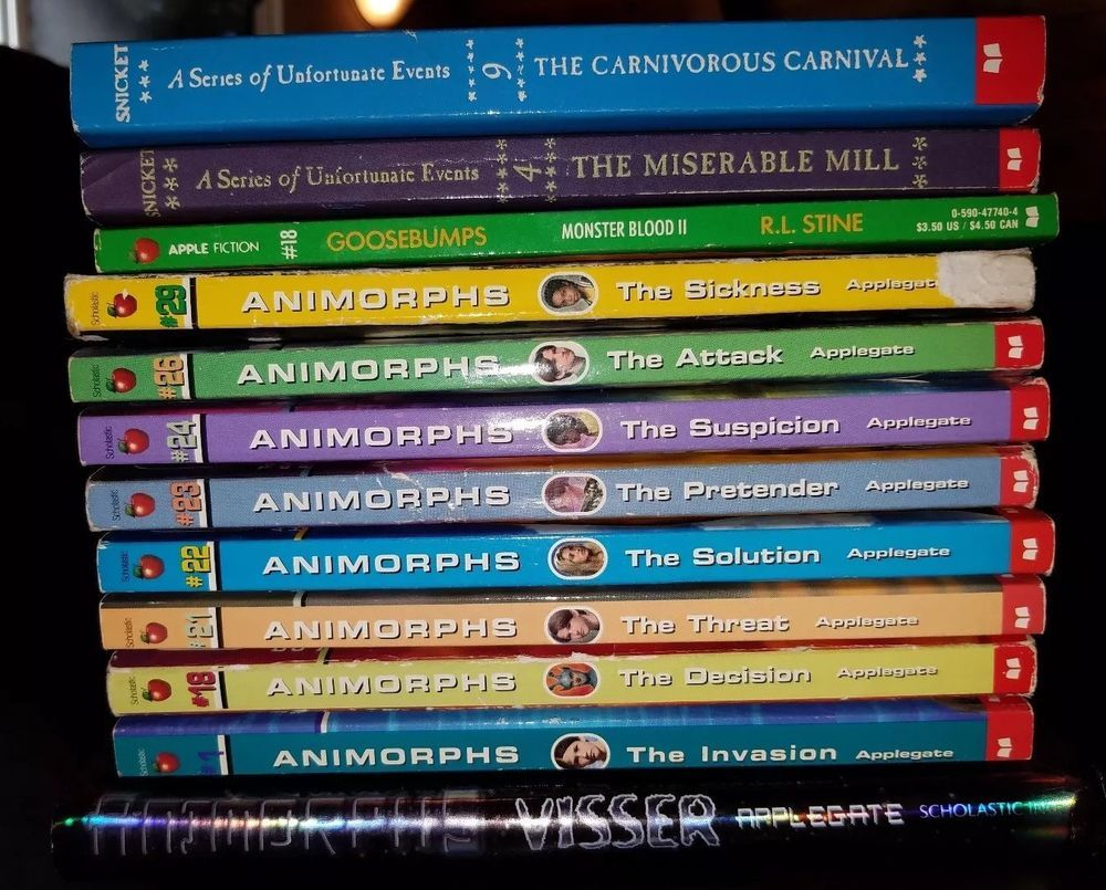Mixed Lot of 12 Goosebumps, Series of Unfortunate Events