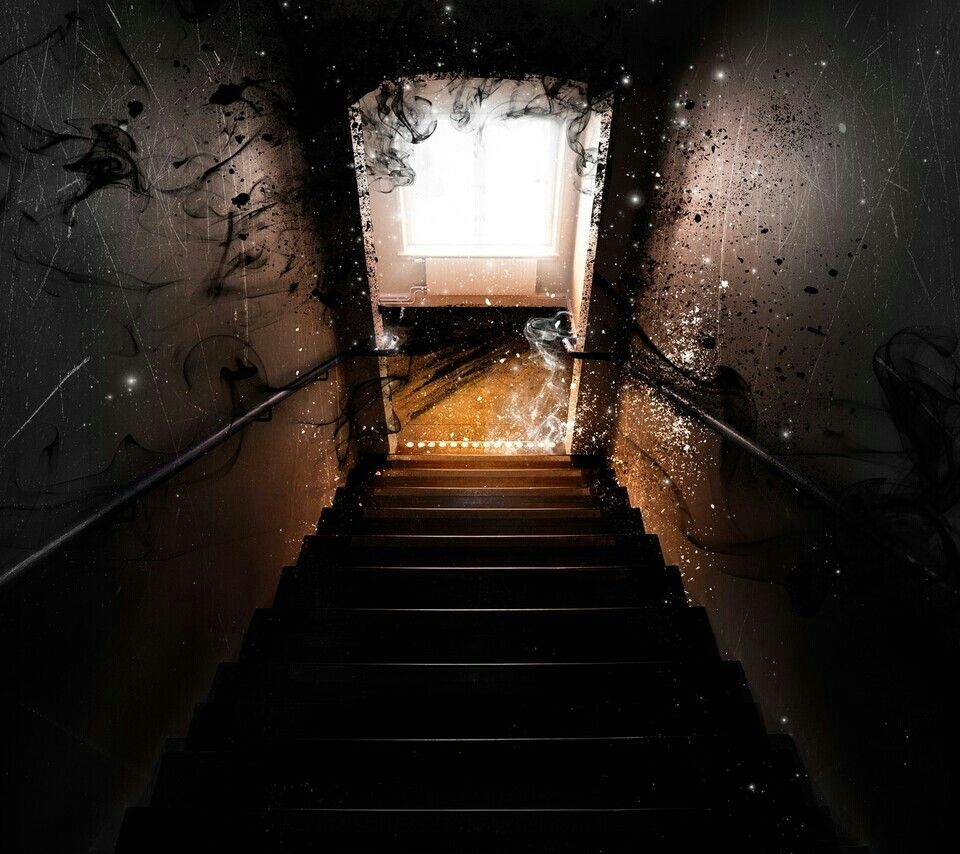 Haunted Stairs Scary Wallpaper Scary Backgrounds Scary Images
