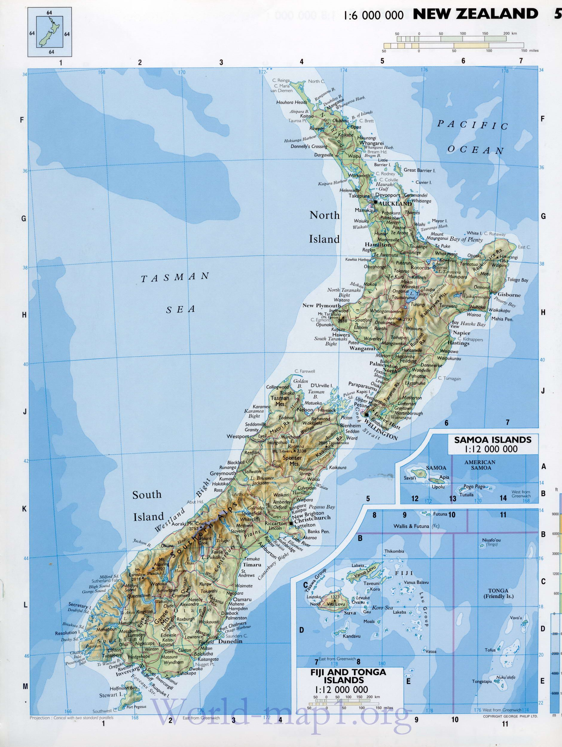 Detailed New Zealand Maps Map Of New Zealand Detailed - New zealand map