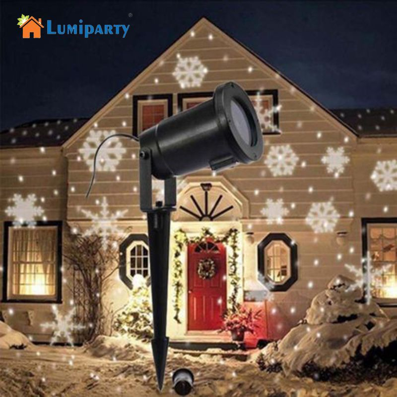 Lumiparty mobile tanche neige laser projecteur lampes flocon de neige led stage de lumi re pour for Projecteur laser neige