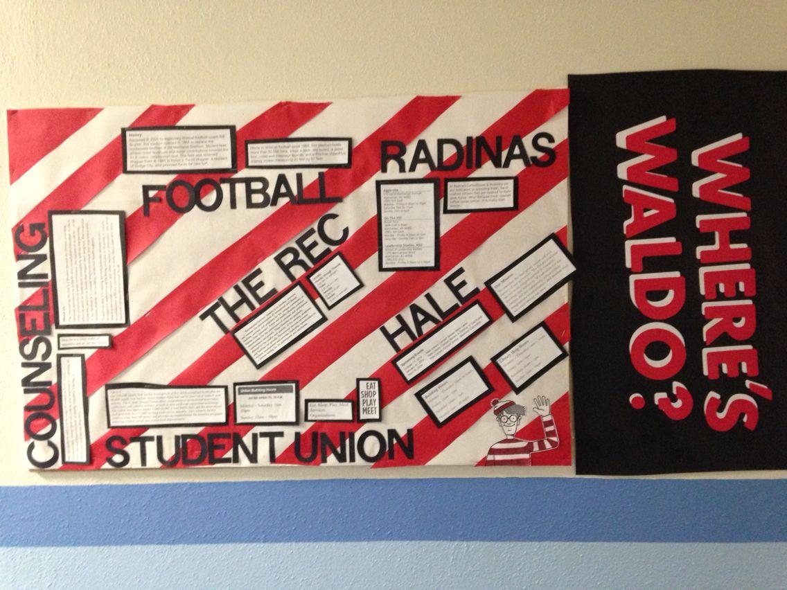 Where's Waldo?/ Places Around Campus Bulletin Board Idea
