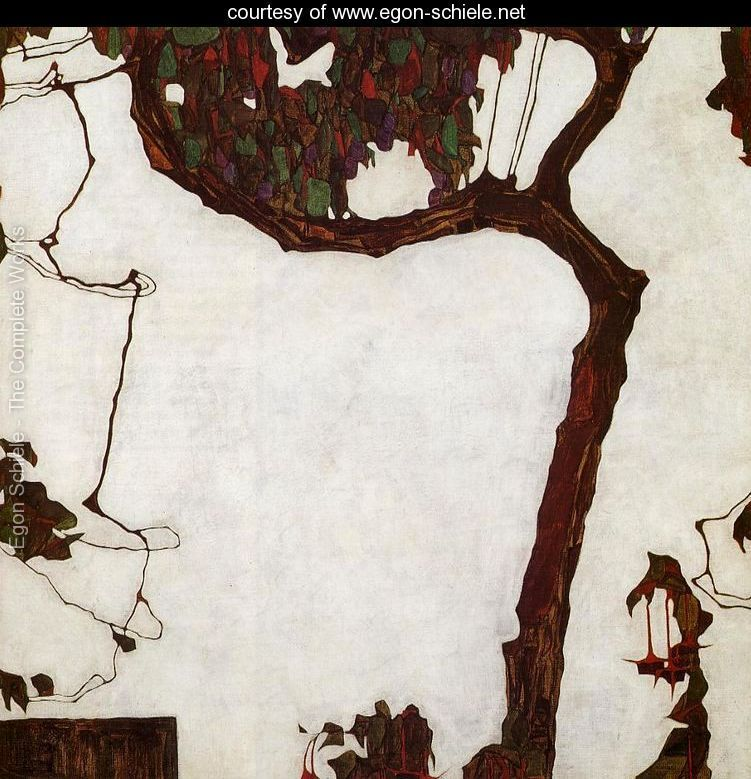 Autumn Tree With Fuchsias - Egon Schiele - www.egon-schiele.net