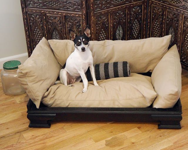 diy dog couch | My repurposed dog bed from an old couch DIY...