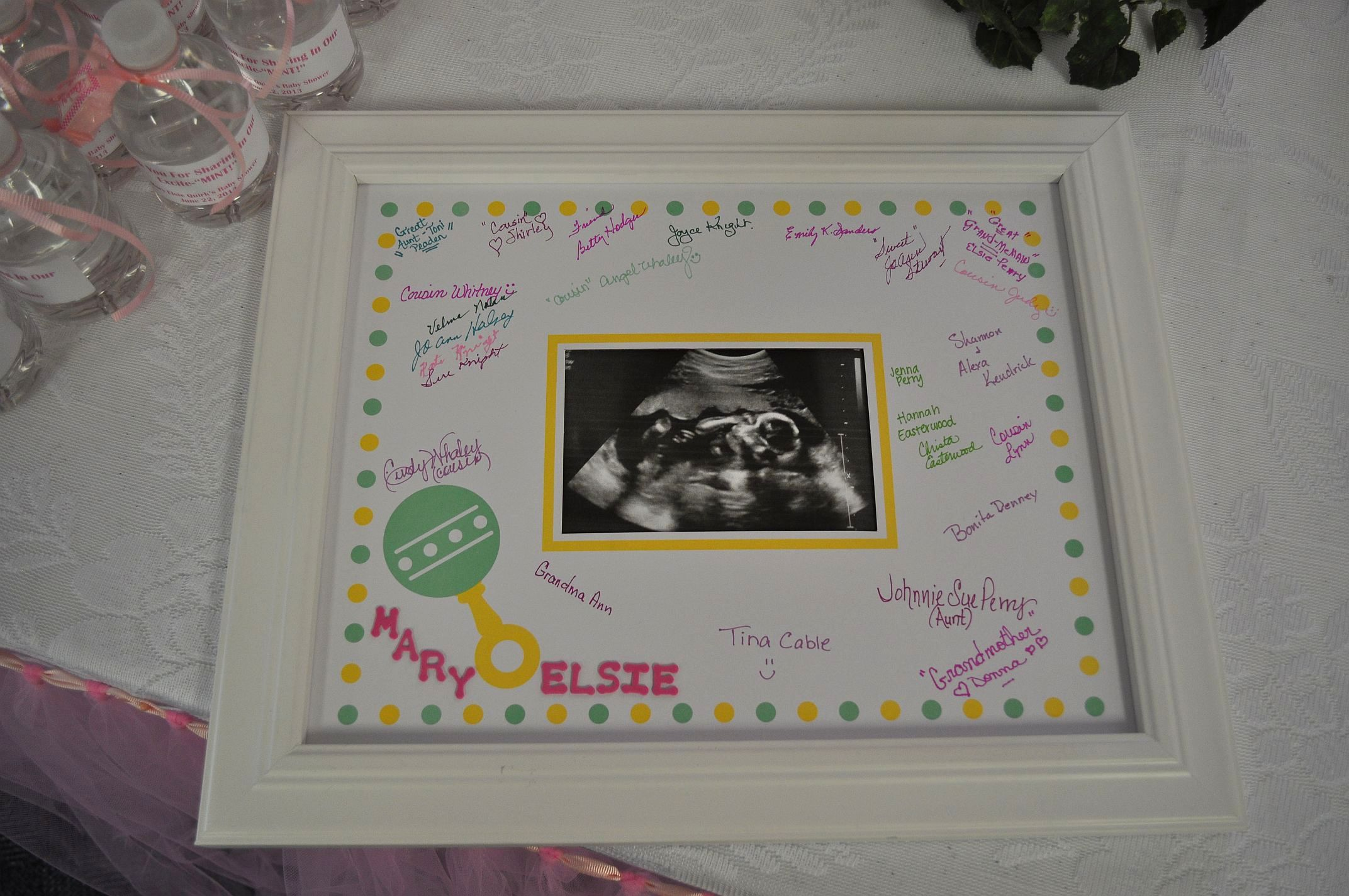 Register For Baby Shower  Framed Signature Matte Which Includes