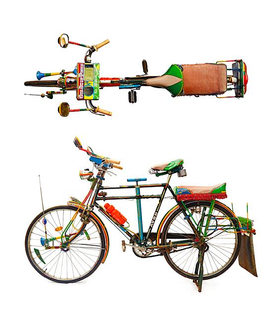 Illustration Kenyan Bicycle Taxi A Boda Boda Passenger Seat At