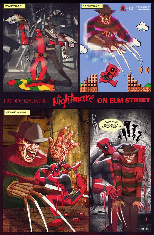 a nightmare on elm street x deadpool by *m7781 on deviantART