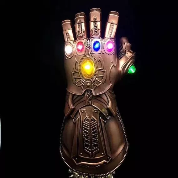 Thanos Led Infinity Gauntlet Action Figures Cosplay Superhero Iron Man Anime Avengers Infinity War Thanos Led Glove Halloween Thanos Infinity Gauntlet Avengers Infinity War Avengers