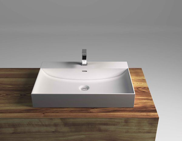 Cantrio Koncepts 1 Hole Rectangular Drop In Bathroom Sink With