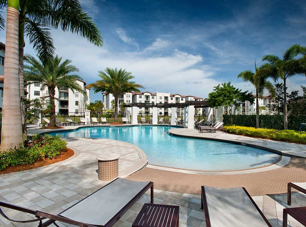 Luxury Apartments Pool catch some sun near the resort-style swimming pool at amli doral