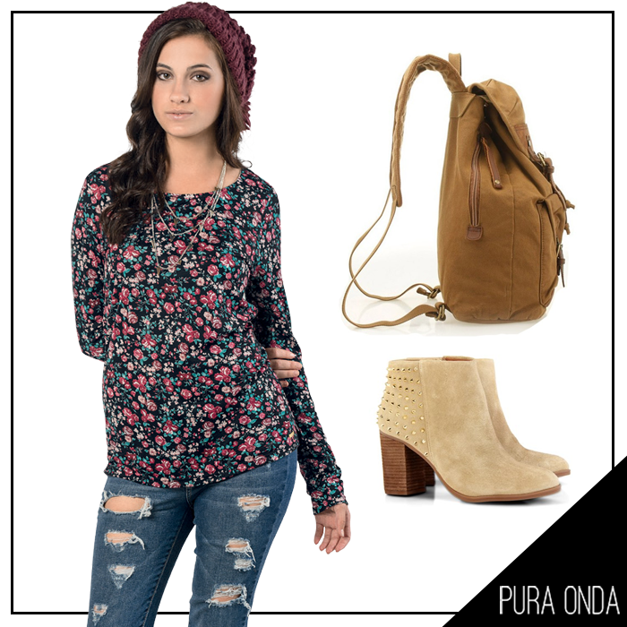 Esta blusa da #PuraOnda com dark floral é super fofa.