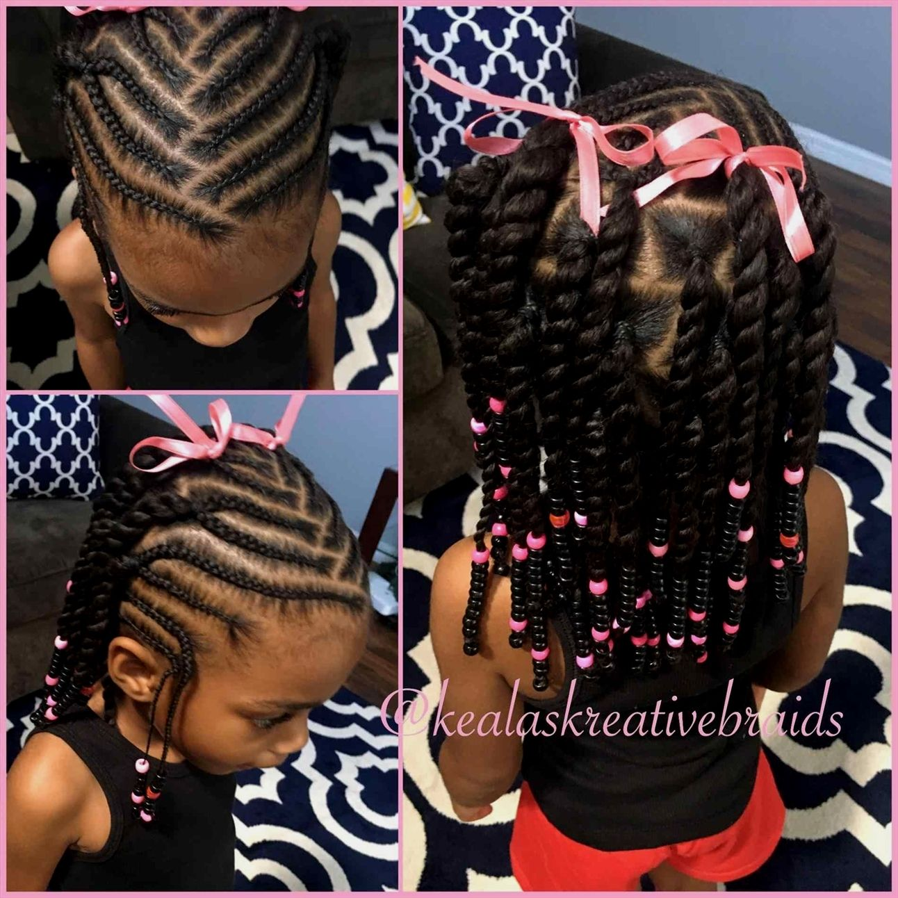 Braids for kids with beads girl hairstylebeads and braids hairstyles