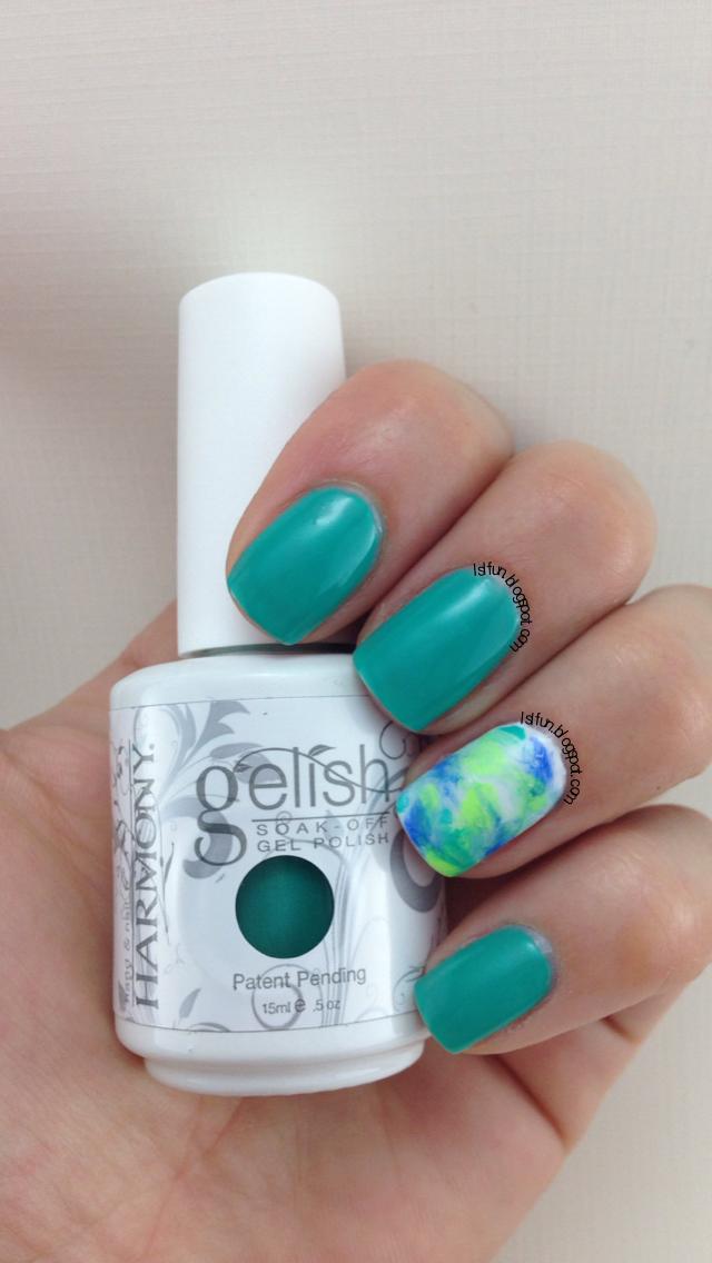 Gel Polish Marbling Technique Tutorial Using Gelish Colors Of Paradise Sharpie Nails Gelish