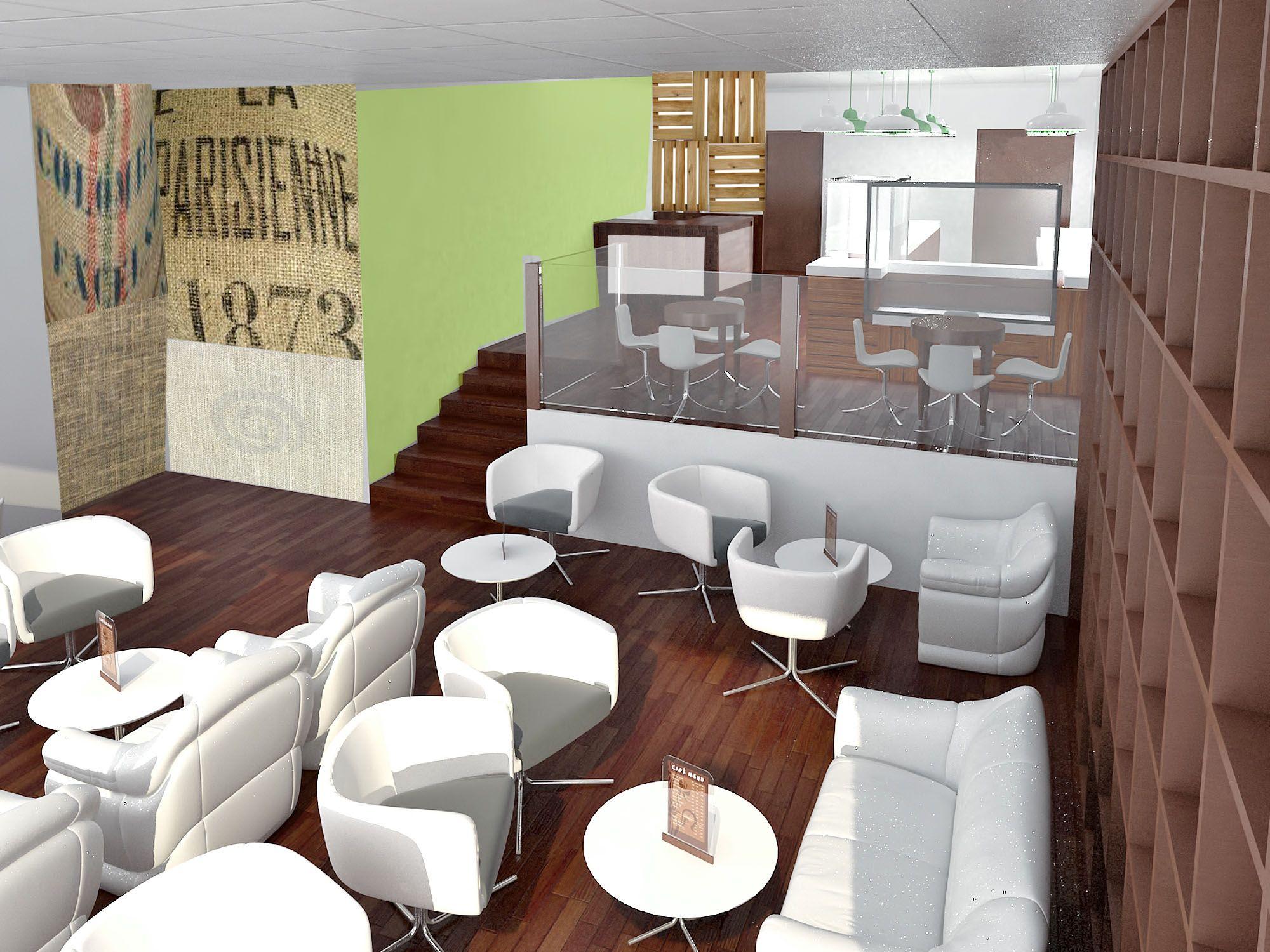 Ideas de #Cafeteria, estilo #Contemporaneo color #Marron, #Marron ...