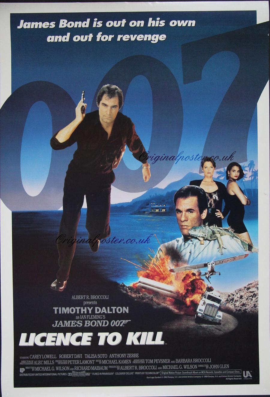 Licence To Kill James Bond Movies James Bond Movie Posters