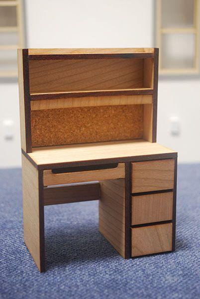 miniature dollhouse furniture woodworking. 112 scale miniature dollhouse dorm desk furniture woodworking