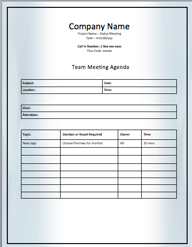 It helps you stay on track and accomplish important goals. Project Team Meeting Agenda Template Agenda Template Meeting Agenda Template Meeting Agenda