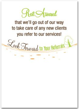 Ask For Business Referrals Business Greeting Cards Thankyou