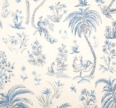 Lisa Fine Textiles A Lovely Tropical Toile Ocean Fabric Indian Ocean Fabric Wallpaper