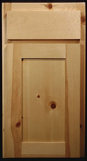 Knotty Pine Shaker Style Cabinets Paintable My Kitchen Happy
