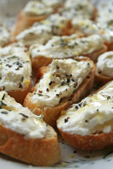 Lemon-Thyme Bruschetta.