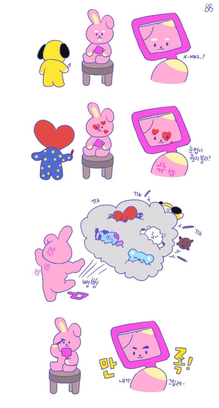 Cute Bts Bt21 Wallpaper Pin Oleh Ndyeoo Di Bts Lockscreen Art Bts Oppas Dan