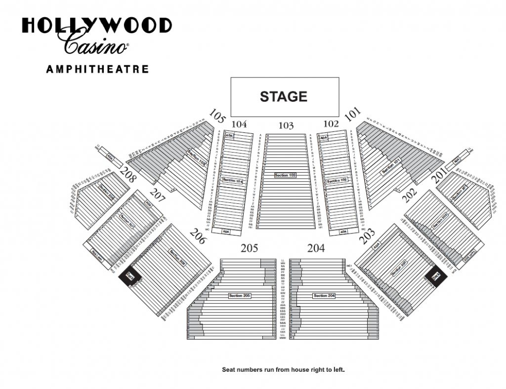 The Incredible Hollywood Casino Amphitheater Chicago Seating Chart Di 2020