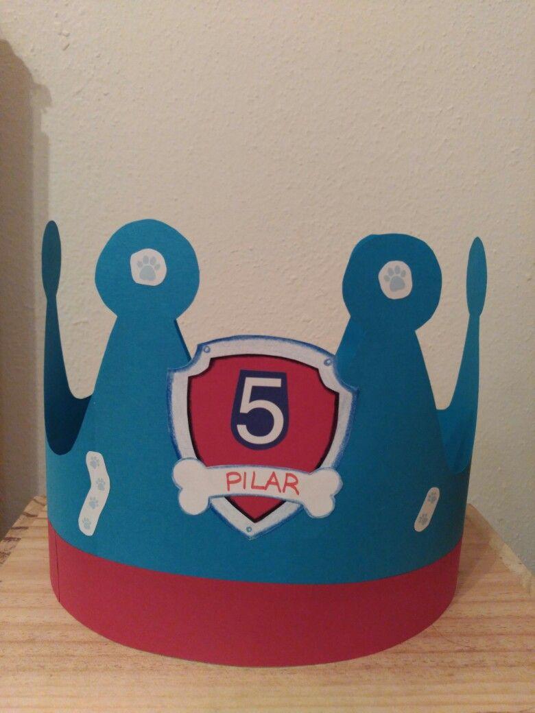 Paw Patrol birthday crown | Proyectos hechos | Pinterest | Geburtstage