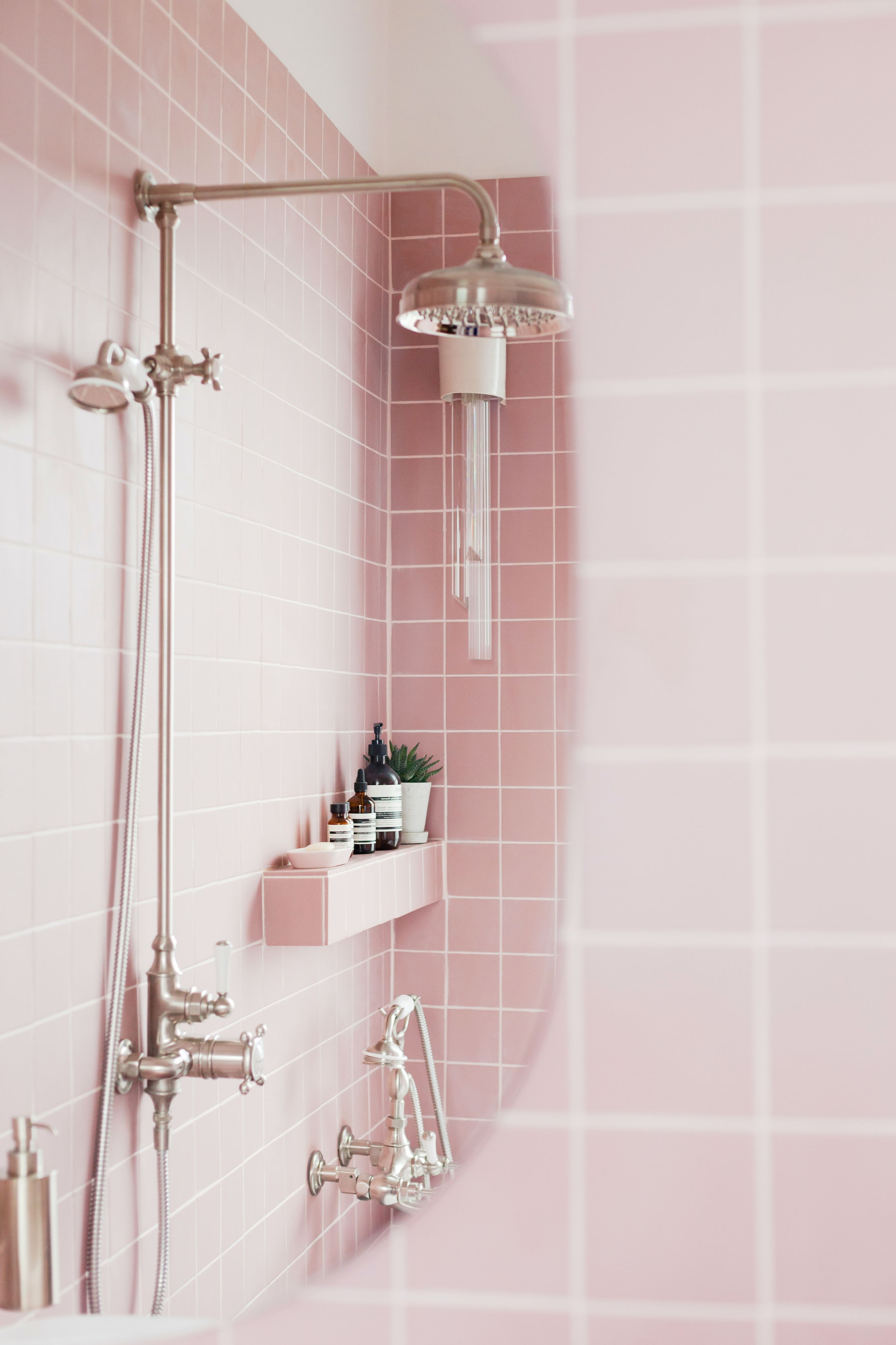 Pretty In Pink We Re So Excited To Share An Exciting Project By 2lg Studio Featuring Our Stunning Victorian Tiles The Soft Pastel Tone Of These