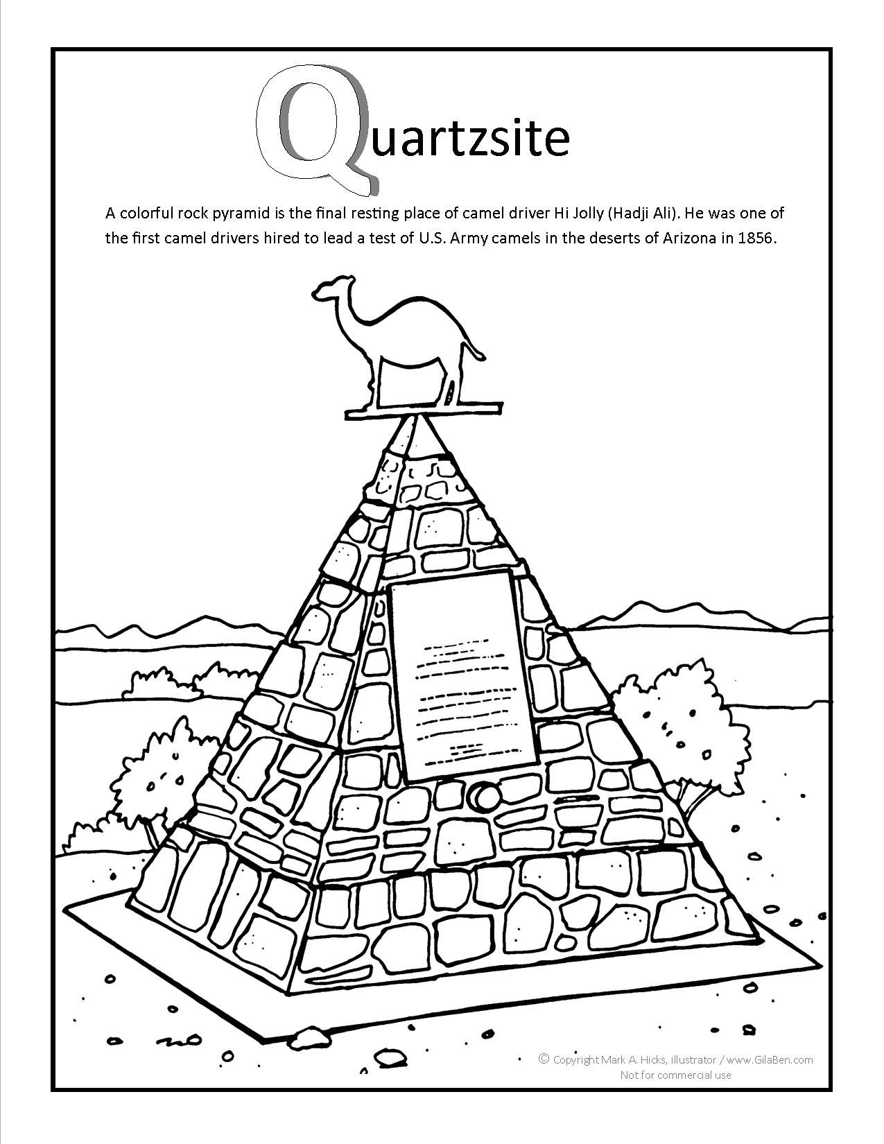 quartsite arizona coloring page at gilaben com arizona coloring