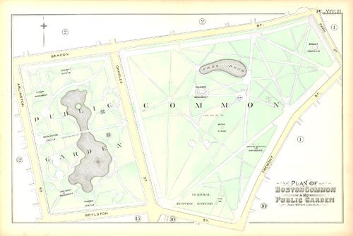 map of boston common park Map Of Boston Common And Public Garden From 1890 Atlas Of Boston map of boston common park