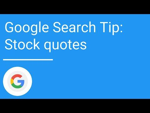 Google Stock Quotes Google Search Tip Stock Quotes  Cash Cow  Pinterest  Stock Quotes