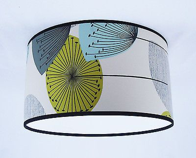 SANDERSON dandelion clocks WALLPAPER LAMPSHADE . HANDMADE