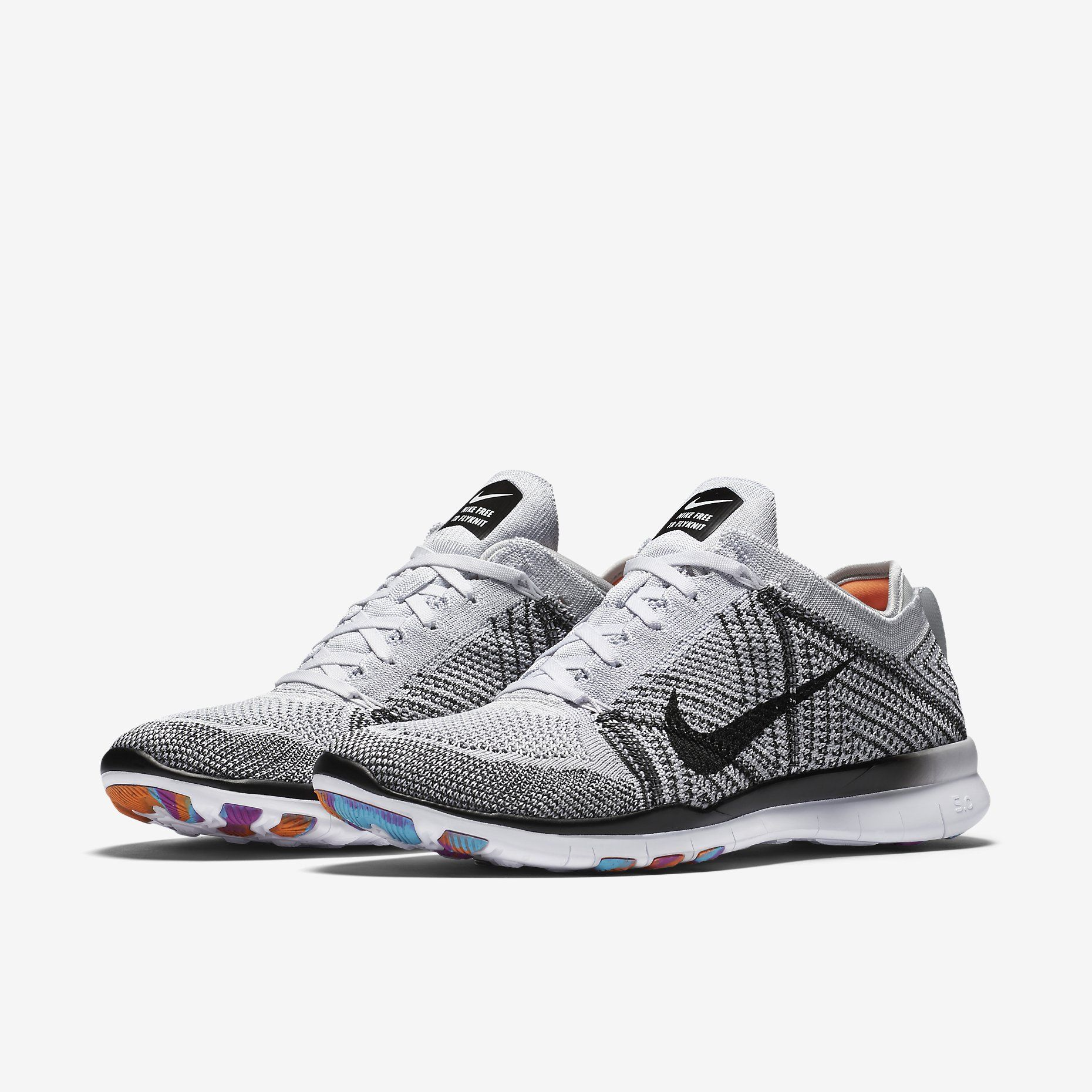 Nike Free TR 5 Flyknit White/Pure Platinum/Hyper Violet - Nike Trainers Factory Store Online - NIKE.