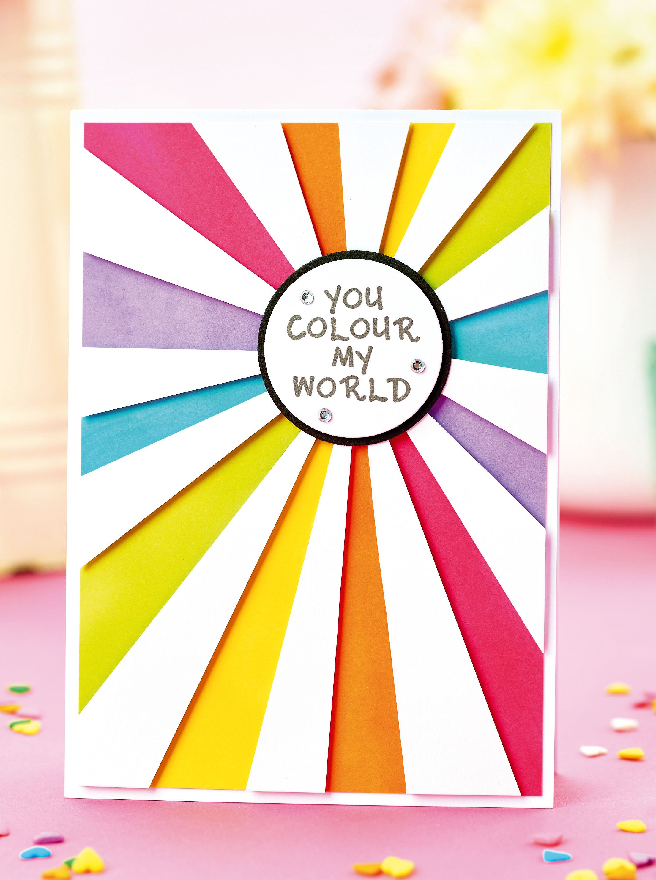 FREE Rainbow Greeting Colour Someones Day With This Vibrant DIY Card