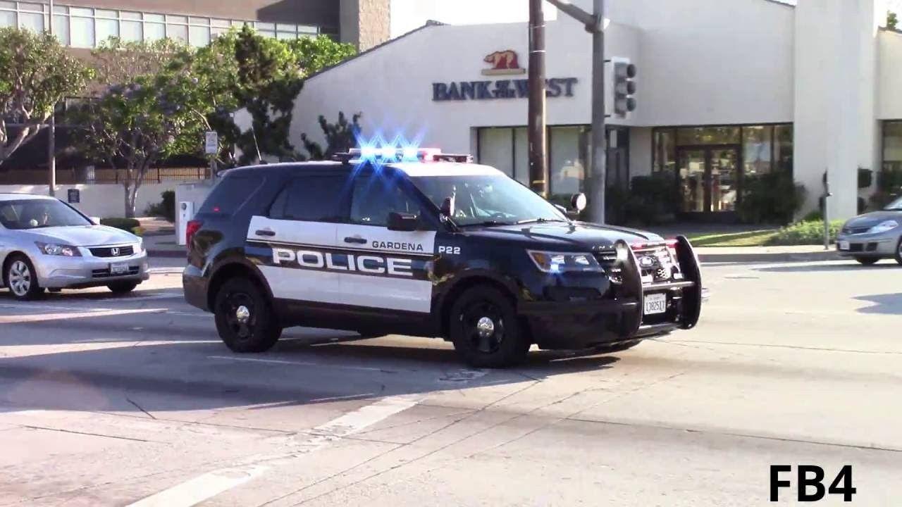 Ford Police Vehicles >> Ca Gardena Police Dept Police Cars Ford Police Police