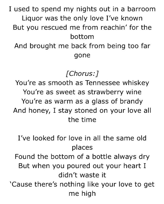 Tennessee whiskey... | Music | Pinterest | Tennessee whiskey ...