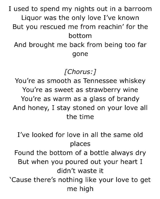 Lyric lyrics to tennessee whiskey : Tennessee whiskey... | Music | Pinterest | Tennessee whiskey ...