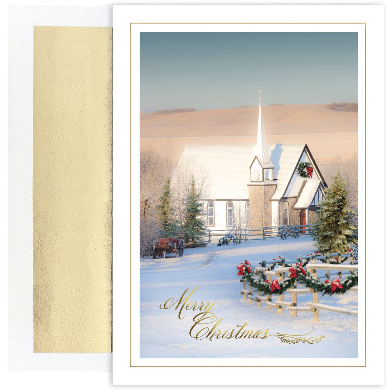 Country church religious christmas card religious christmas cards masterpiece cards masterpiece country church set of 18 boxed holiday greeting cards with envelopes kristyandbryce Choice Image