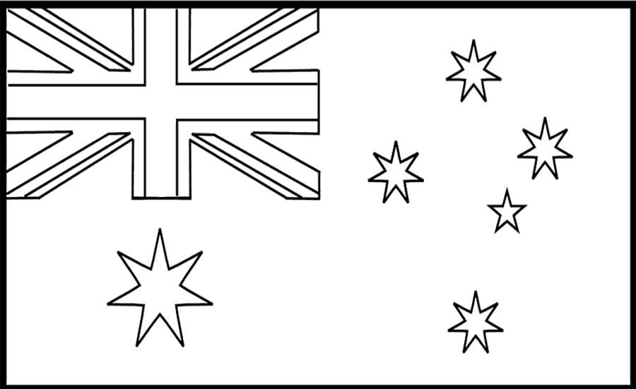 Australia Of Flags Coloring Page For Kids | Kids Coloring Pages ...