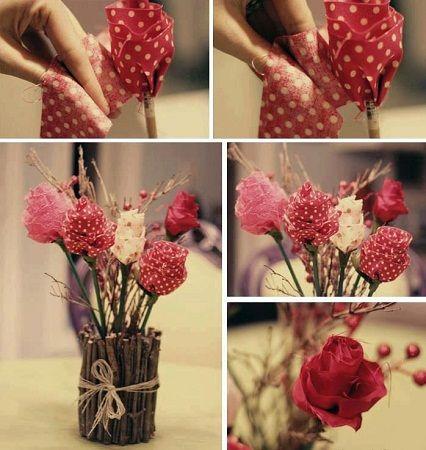 Como hacer rosas para el d a de la madre manualidades for Manualidades para decorar el hogar