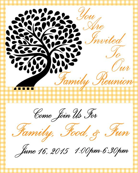 Family Reunion Invitation Free Printable  Free Printable Family Reunion Invitations