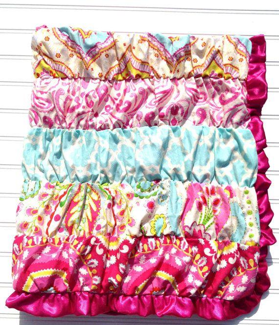 Ruffle Blanket In Kumari Garden Fabric By SorenByAngelique On Etsy, $85.00