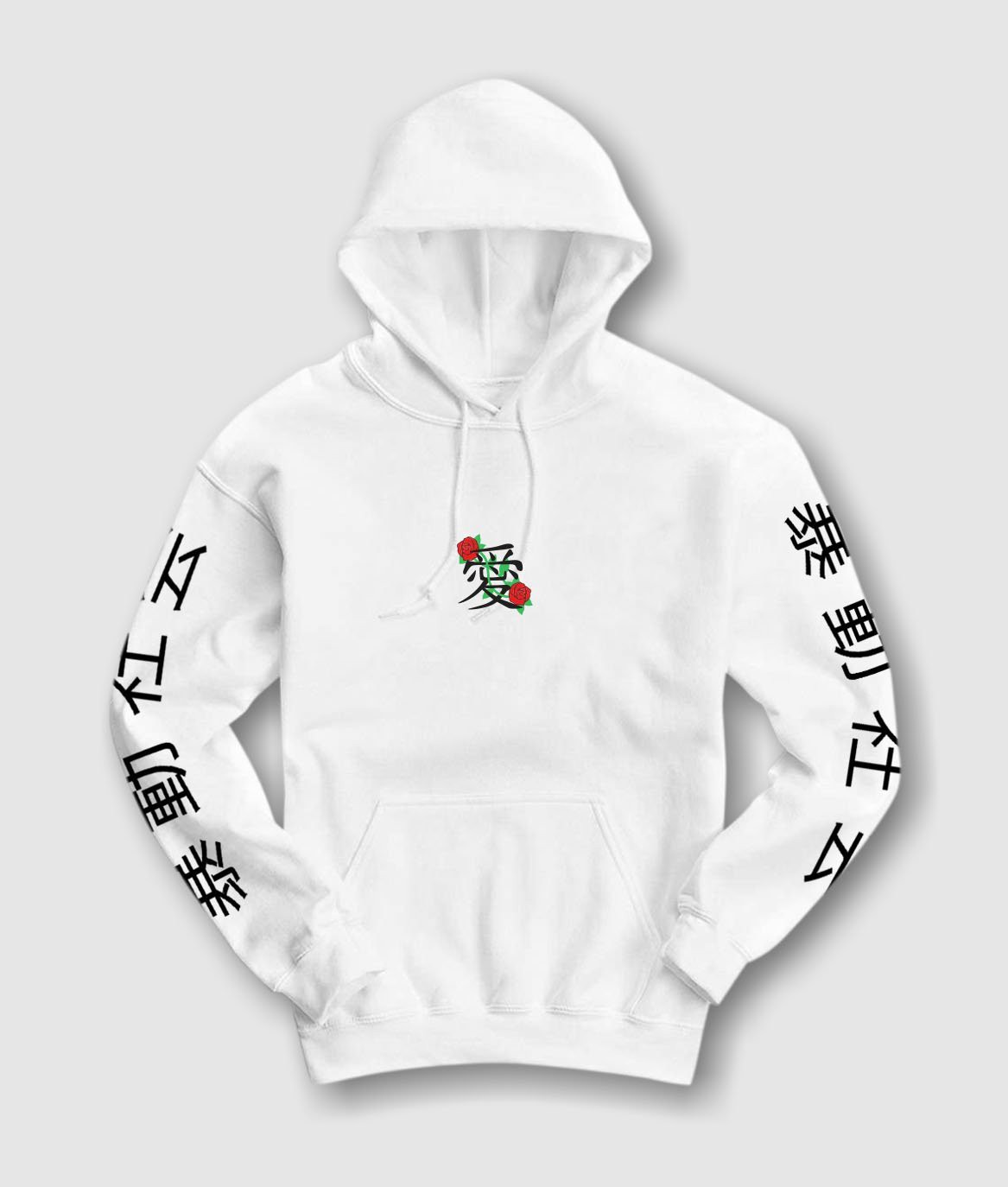 9a156a25 Riot Society Kanji Love Embroidered Mens Hoodie - Xx-Large ...