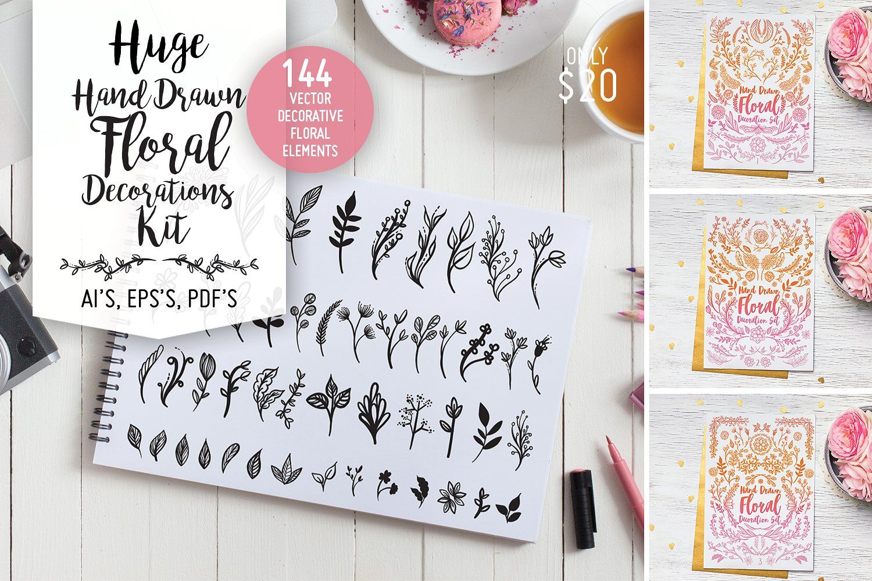 Huge Floral Decorations Kit Decoration kit, Logo design
