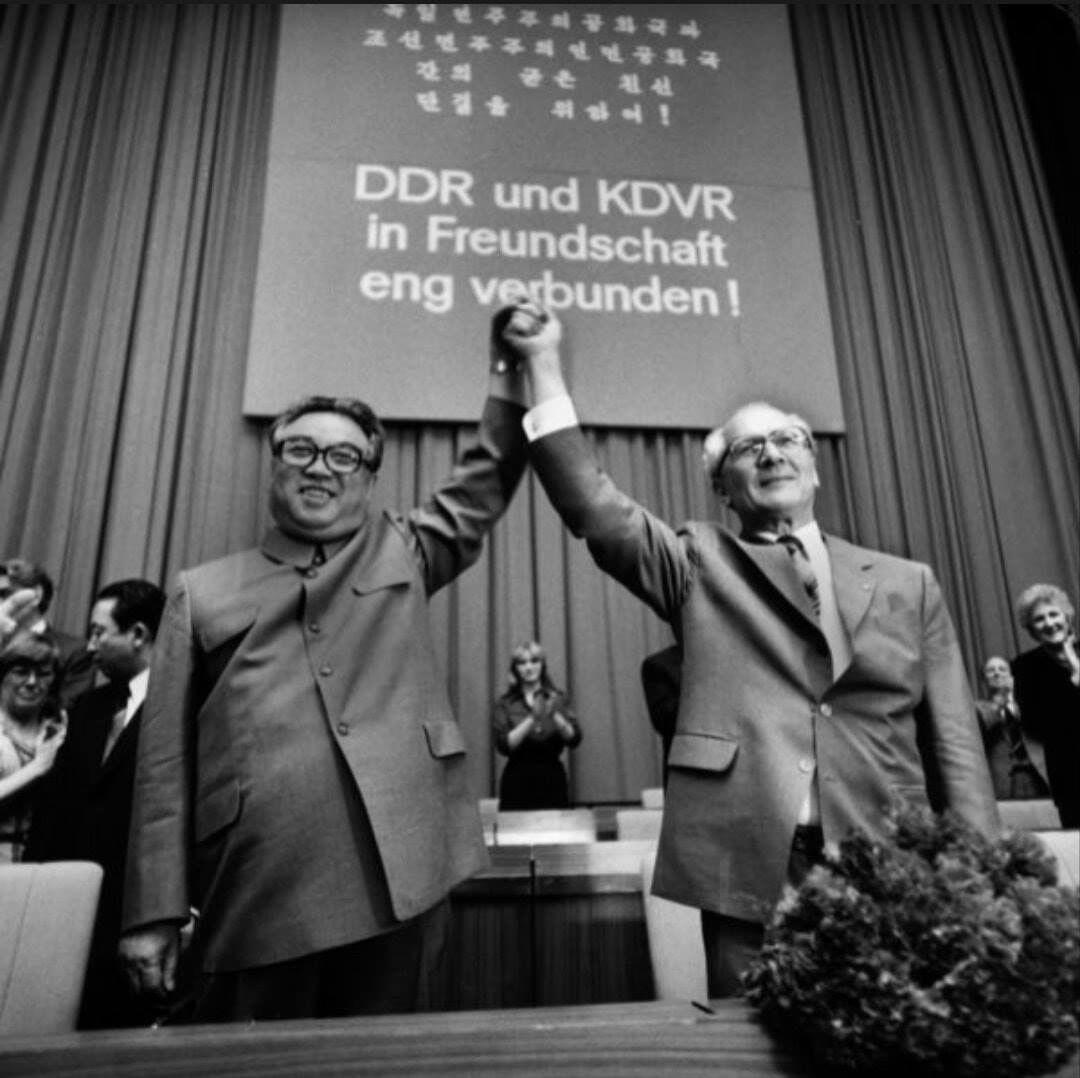 Kim Il Sung And Erich Honecker