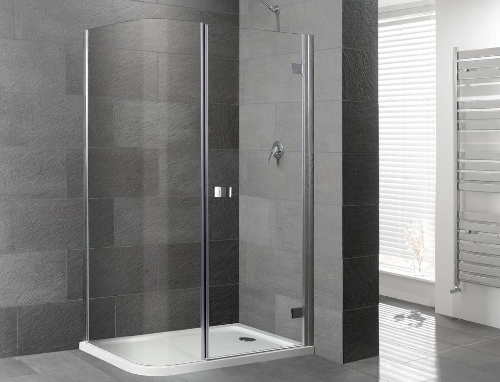 Attractive Orca Curved Corner Frameless Shower Enclosure Inc. Tray