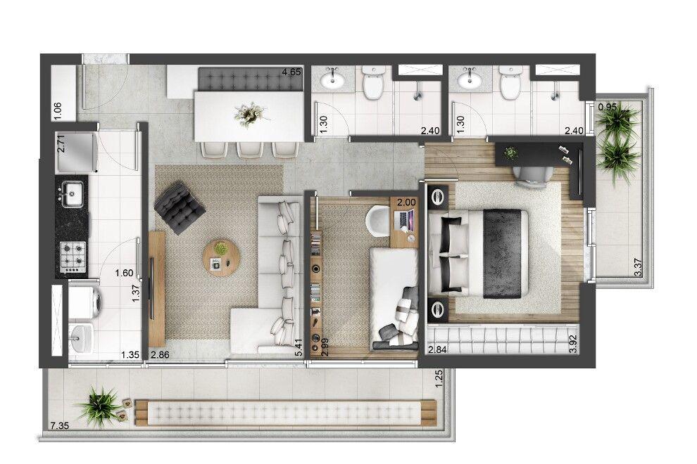 Wonderful EVEN   Apartamentos Novos à Venda Com Alto Padrão De Qualidade · Apartment  Floor PlansHouse ...