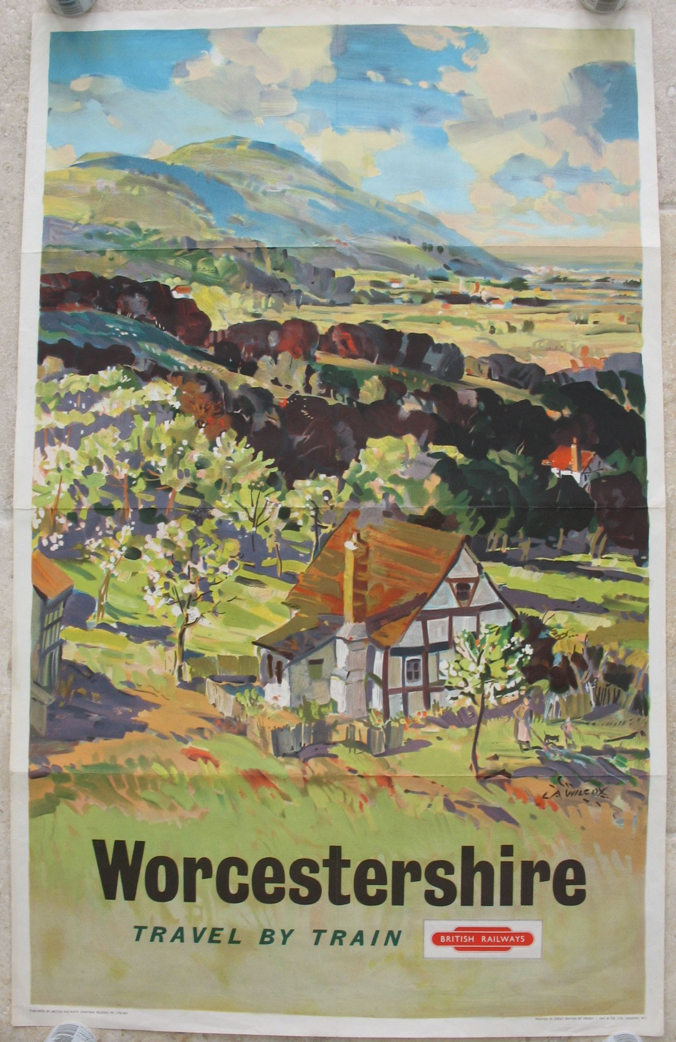 Worcestershire British Railway Vintage Old Picture Retro Poster A4 Print