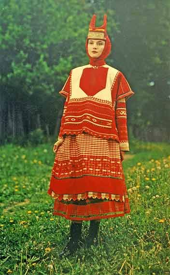 Женский свадебный костюм. 1920-е гг. Тамбовская губерния
